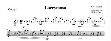 Lacrymosa – nytt arr